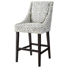 Griffin Cutback Bar Stool - Gray/Citron -- I wish, but the kids would probably ruin it.