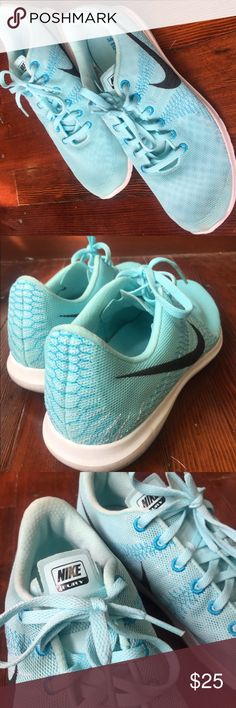 Nike Fury baby blue size 10 Size 10 - worn once! (Practically new!)  Women's workout shoes Nike Shoes Athletic Shoes