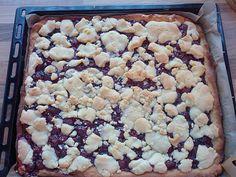 Saftiger Kirsch - Streusel - Kuchen vom Blech, ein leckeres Rezept aus der Kategorie Kuchen. Bewertungen: 9. Durchschnitt: Ø 4,3.