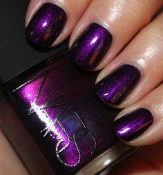 "Nars nail polish in ""Purple Rain"".waaaaay too pretty, no? Dark Purple Nails, Purple Nail Polish, Nail Polish Colors, Dark Blue, Love Nails, How To Do Nails, Pretty Nails, Purple Nail Designs, Nail Art Designs"