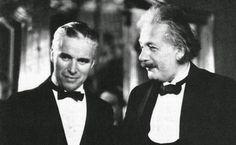 Charlie Chaplin and Albert Einstein, date unknown