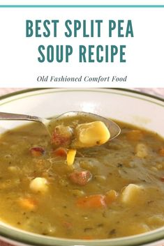 Best Split Pea Soup with Ham - - This is a hearty green split pea soup and for those who do not like these peas can substitute lentils and even white beans. A thick hearty comfort soup.