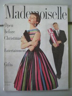 November 1954. ♥️ the multicolored striped 👗 on the cover!
