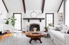 Living Room On Pinterest Brick Fireplaces Living Rooms And Painted