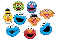 INSTANT DOWNLOAD Sesame Street Heads Clip art Set by WittyPrints, $7.00