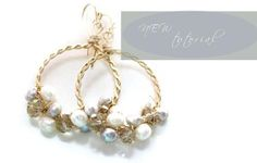 DYI Hoops with crystals and pearls