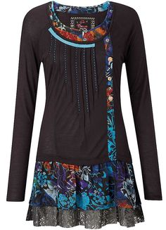 Joe Browns Tremendous Tunic - turn a t-shirt or sweater into a dress by adding material to the bottom and neck.