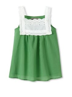 Saurette Girls Eyelet Trim Blouse (Absynthe). i may have to make a version of this for the little ladies!