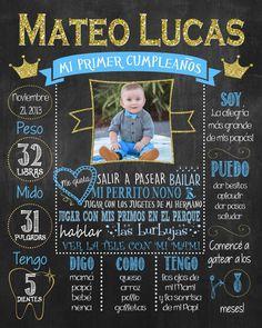 mi primer cumpleaos poster principe azul first birthday chalkboard poster espaol spanish