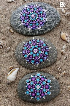 Mandala Stones Picture Gallery - colorful crafts
