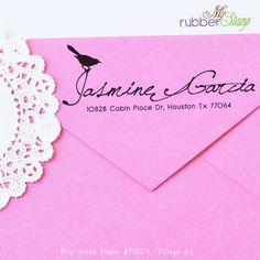 Custom Self Inking Stamp - I Love Birds. Personalize Return Address Stamp, Wedding Stamp, RSVP, Like me on Facebook. P1024. $32.00, via Etsy.