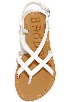 Beach Hopper White Strappy Thong Sandals at Lulus.com!
