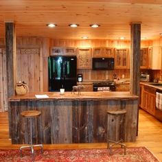 european kitchen cabinets wood | Reclaimed Wood Rustic Kitchen Cabinets custom made by Sandy Creek ...