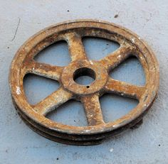 Old Pulley Wheel Primitive Browning Iron on Etsy, $19.00
