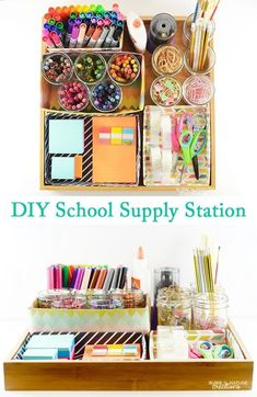 Ensure your kids have everything they need to excel with this handy office organization system.
