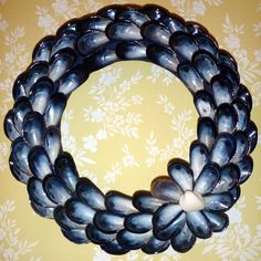 Mussel Shell Wreath by NausetCreations on Etsy, $40.00
