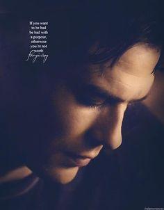 """""""Se vuoi fare il cattivo , fallo per uno scopo.. altrimenti non sei degno di essere perdonato"""" - Damon a Klaus    #TVD"""