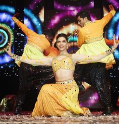 Bollywood actress Deepika Padukone during her glorious performances at SLAM finale in London with the team members of HNY.  Bollywood extravaganza concluded recently at the houseful O2 Arena. Director Farah Khan,