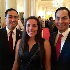by @rtmaldon #WhiteHouse #USA My daughter with Congressman Castro and Secretary Castro!!!