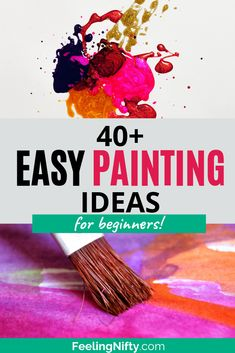 Easy DIY Painting Ideas that'll Inspire Your (hidden) Inner Artist - - Looking for something to paint on canvas? Get some inspiration with these easy painting ideas- perfect for the beginner artist. Use in home decor, paint nights, etc. Small Canvas Paintings, Simple Acrylic Paintings, Easy Canvas Painting, Galaxy Painting, Large Canvas Art, Butterfly Painting, Easy Paintings, Diy Canvas, Painting For Kids