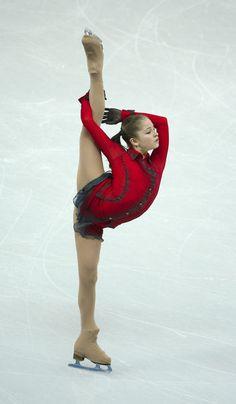 Yulia Lipnitskaya in her Schindler's List long programme.