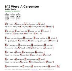 If I Were A Carpenter (Bobby Darin) - http://myuke.ca