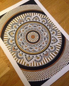 Finished! A crappy picture but lots of gold and bronze in this one. Looks like this will be my last mandala of 2016. Happy new year! #draw #drawing #sketch #doodle #mandala #mandalaart #art #artwork #illustration #inspiration #design #creative #pencil #ink #handmade #instaart #instadaily #instagood #instapic #picoftheday #newyear #mandalala #heymandalas #mandala_sharing #gold #zentangle #doodleart