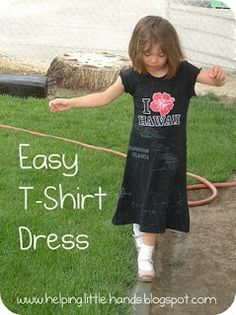 Pieces by Polly: Easy T-Shirt Dress with Free Pattern: Hand-Me-Down REHAB