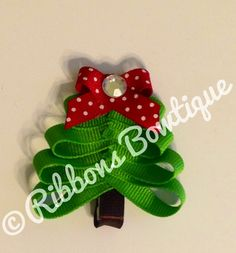 "HOW TO: Make a ""Christmas Tree"" Hair-Clip"