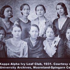 Alpha Kappa Alpha Ivy Leaf Club - 1932 - Howard U Archives #AKA #IvyLeaf