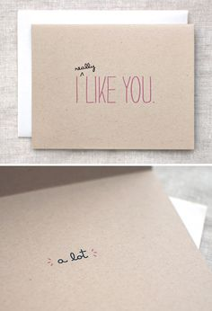 If only I got a card like this on Valentine's day... <3