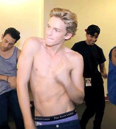 Cody Robert Simpson dancing and shirtless!!!!! GIF