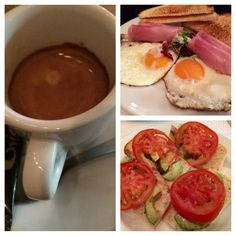 Bar Oviso for breakfast in Barcelona, very good coffee and decent food options (eggs + ham, avocado tomato ciabatta)