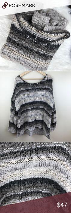 Free People Oversized Knit Sweater Free People Size Small Oversized Chunky Knit Sweater Free People Sweaters