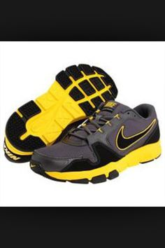 74abb4d78ce Nike Men s Air Flex Trainer Cross Training Shoes Gray Black Yellow on Sale