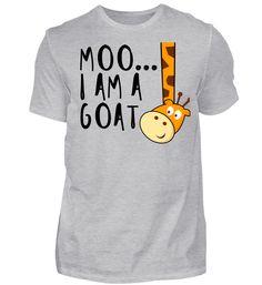Moo... I Am A Goat - Lustige Giraffe mit Persönlichkeitsstörung Geschenk Ziege T-Shirt Moo, Mens Tops, Funny Giraffe, Goat, Gift
