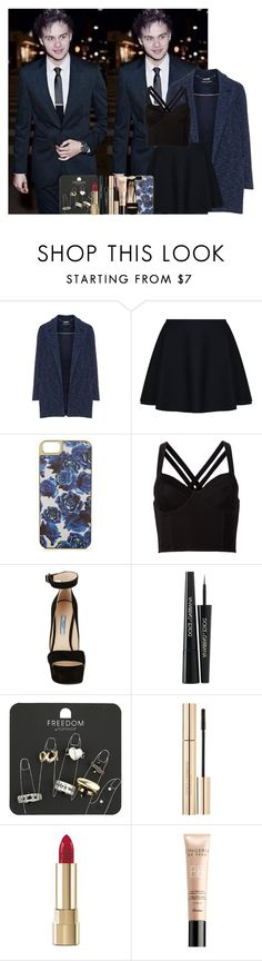 """""""Sans titre #552"""" by faanfic-1d ❤ liked on Polyvore featuring Manon Baptiste, TWISTY PARALLEL UNIVERSE, Warehouse, Fleur du Mal, Prada, Dolce&Gabbana, Topshop and Guerlain"""