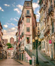 A charming street of Coimbra in Portugal. 📷 by Maria Bonizza Places In Portugal, Visit Portugal, Portugal Trip, Portugal Travel, Places To Travel, Places To Go, Coimbra Portugal, Europe Centrale, Plitvice Lakes National Park