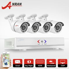 123.15$  Watch now - http://aitp4.worlditems.win/all/product.php?id=32785129625 - ANRAN HD 4CH CCTV System 720P HDMI DVR 4PCS 1.0MP 1800TVL IR Outdoor Video Surveillance Security Camera System 4CH AHD DVR Kit
