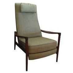 Mid-Century Modern Reclining Lounge Chairs - Pair