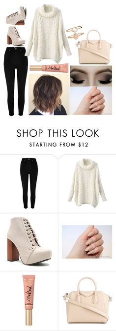 """Elizabeth: October 28, 2016"" by disneyfreaks39 ❤ liked on Polyvore featuring River Island, Qupid, Too Faced Cosmetics, Givenchy and Accessorize"