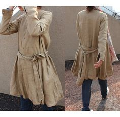 Flower Bud Linen Long Coat/ 9 COLORS by Ramies on Etsy, $84.00
