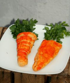 Calzone shaped like a carrot!