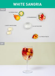 White Sangria | 15 Low-Calorie Cocktails That Will Still Get You Turnt