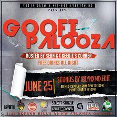 Yoshi Crew presents GoofiPalooza on June 25 @yoshicrewent @kingyoshiman #Goofipalooza #Atlanta