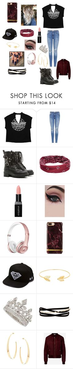 """""""Bomber jacket"""" by jno712 ❤ liked on Polyvore featuring Frame, RED Valentino, Mudd, Smashbox, Concrete Minerals, Diamond Supply Co., Lord & Taylor, Garrard, Kenneth Jay Lane and Lana"""