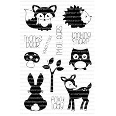 Clearly Besotted WOODLAND PALS Clear Stamp Set