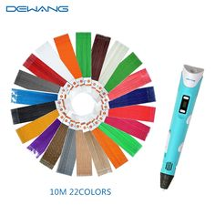 67.15$  Buy now - http://aligw6.worldwells.pw/go.php?t=32452760908 - Dewang 3D Printer Pen Kids Drawing Pens With 220 Meters 22 Color Linear PLA Filament Safe Toy 67.15$