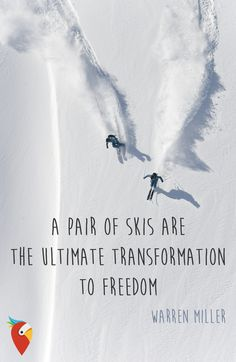 """Ein Paar Ski ist die ultimative Transformation in die Freih.- ""Ein Paar Ski ist die ultimative Transformation in die Freiheit"" – Warren Miller… ""Ein Paar Ski ist die ultimative Transformation in die Freiheit"" – Warren Miller – Skifahren – - Slalom Skiing, Alpine Skiing, Snow Skiing, Ski Ski, Skiing Quotes, Sport Quotes, Holiday City, Holiday Deals, Ski And Snowboard"