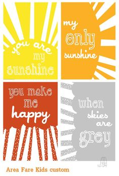8x10 You Are My SunshineWhen Skies Are Grey by AreaFareKids, $50.00